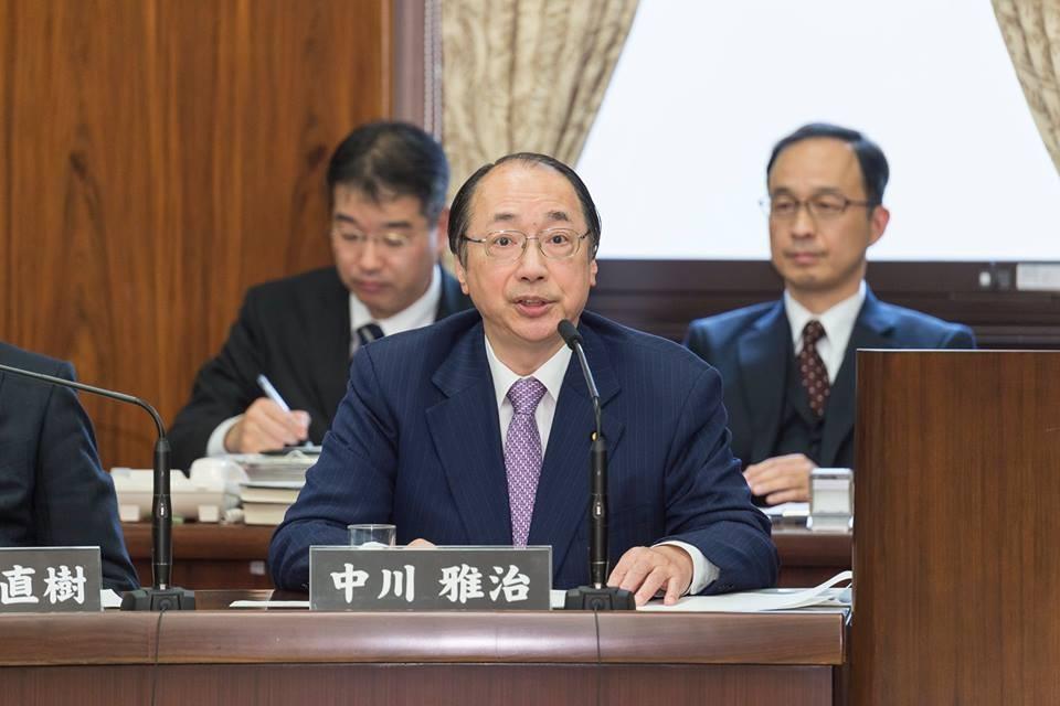 日本環境大臣中川雅治(翻攝自中川雅治臉書)
