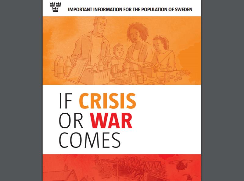 瑞典推出新版危機與戰爭教戰手冊(圖/瑞典政府)