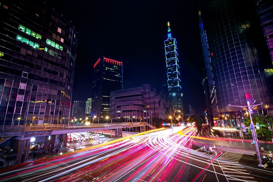 Taipei's Xinyi District (Image from Pixabay User Hugo_ob)