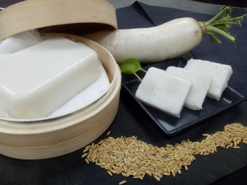 國產耐熱「台中2號」蘿蔔與「台中稻秈197號」加工製成蘿蔔糕。(照片由農委會提供)
