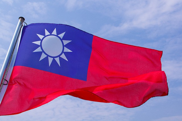 Taiwan Flag (Image courtesy  Flickr user: Jackson Ma)