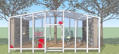 臺中花博森林圖書館模擬設計圖(圖片來源:臺中市政府提供)
