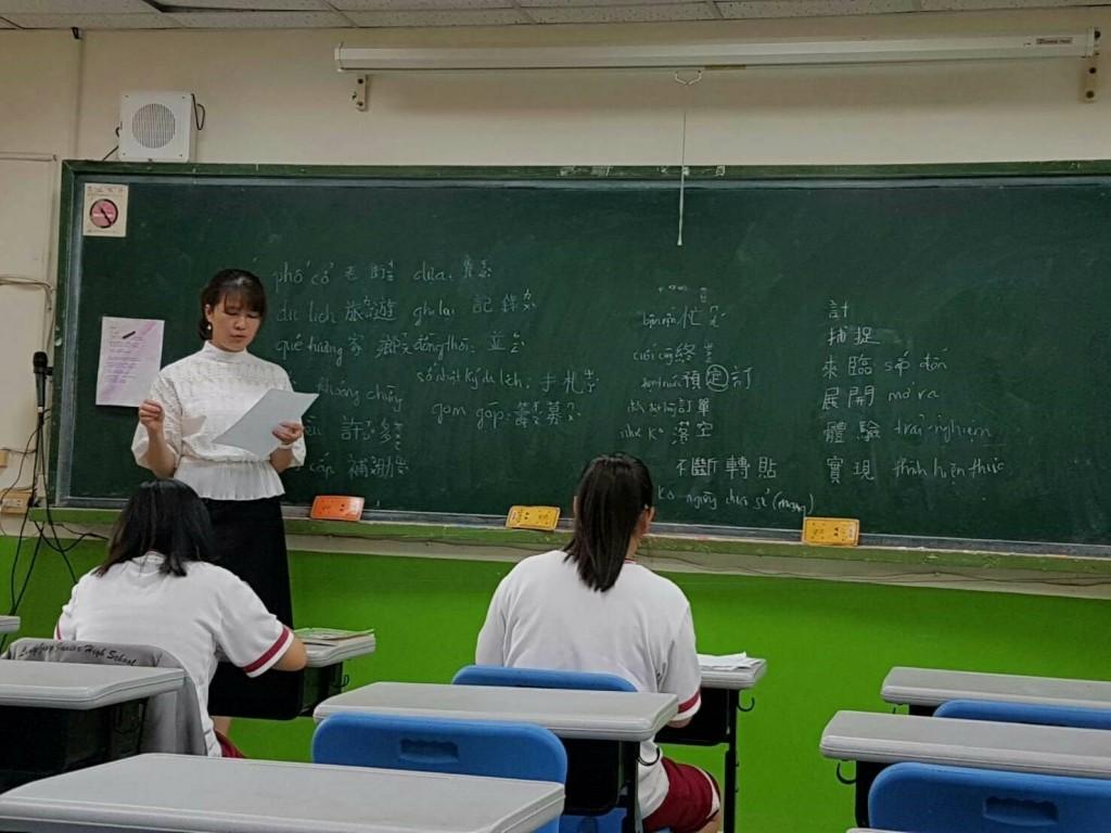 中市首創新住民子女跨國銜轉行動式學習中心 試辦成效展現(台中市教育局提供)