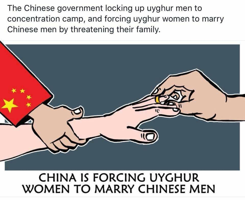 Netizens outraged by 'gene washing' wedding between Chinese man and Uyghur woman