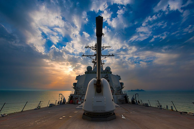 Deck of the USS Higgins (2011 file photo) which joined a 'freedom of navigation' op. in S. China Sea May 27