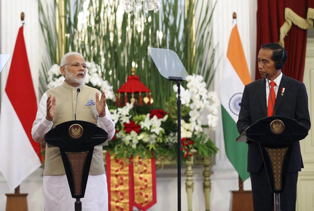 印尼總統與印度總理發表聯合聲明(圖/美聯社)
