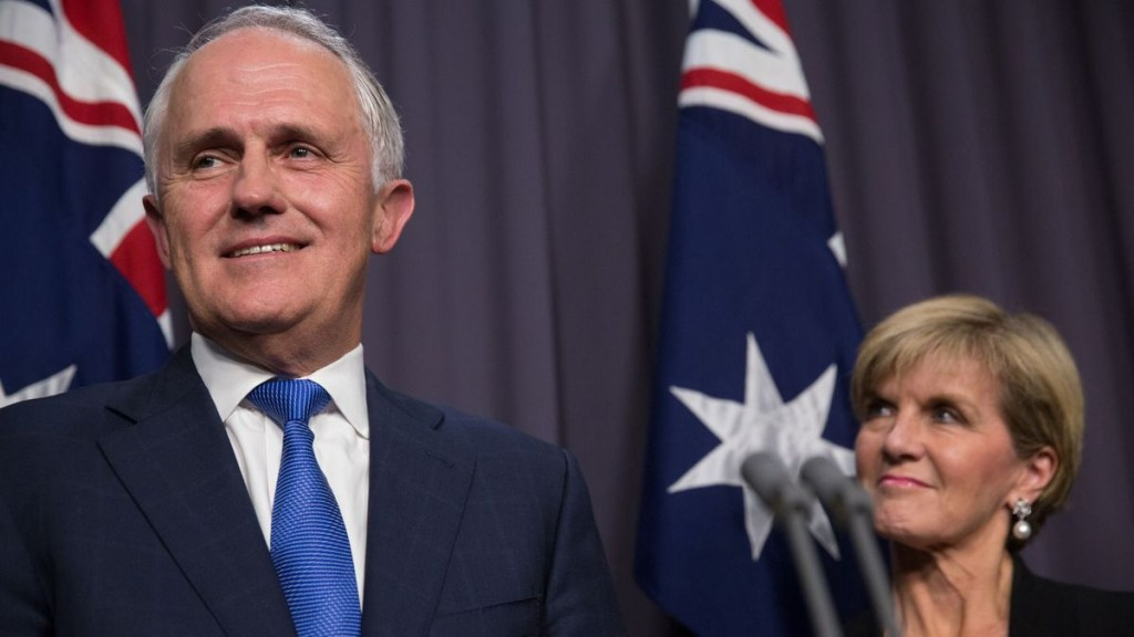 Australia PM Malcolm Turnbull of Foreign Minister Julie Bishop