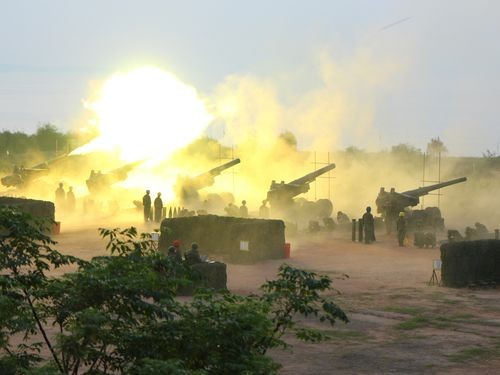 Live fire during Han Kuang exercise in 2017.