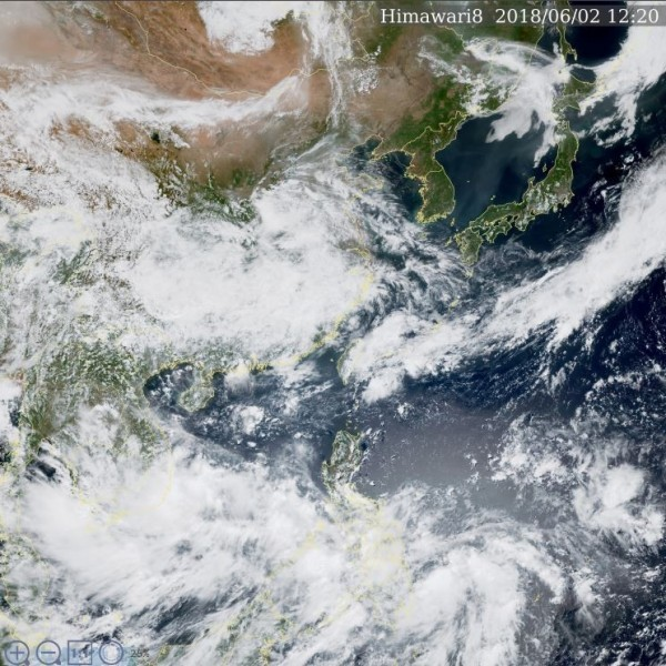 Tropical Storm Ewiniar to cause rain in south and east (image courtesy of Central Weather Bureau).