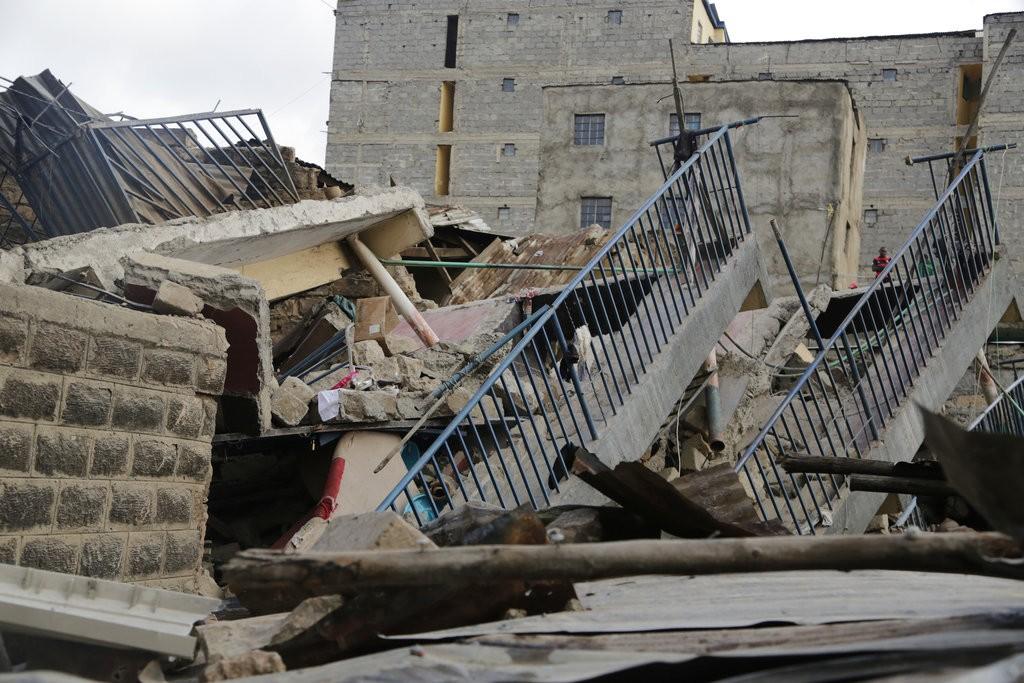 肯亞奈洛比貧民區大樓倒塌(美聯社)