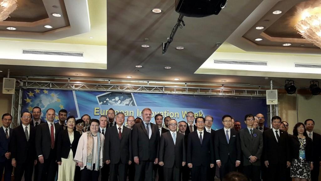 歐盟成長總署副總署長Antti Peltomäki率領來自歐盟16國不同會員國和18個產業聚落代及官員出席「歐盟創新週」。