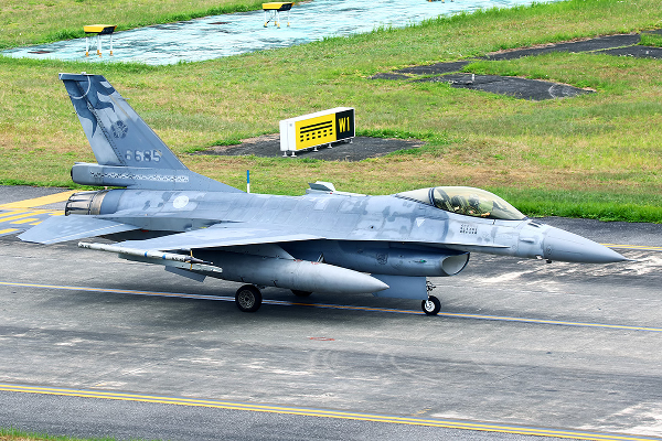 Image of the F-16 (No. 6685) that crashed over N. Taiwan