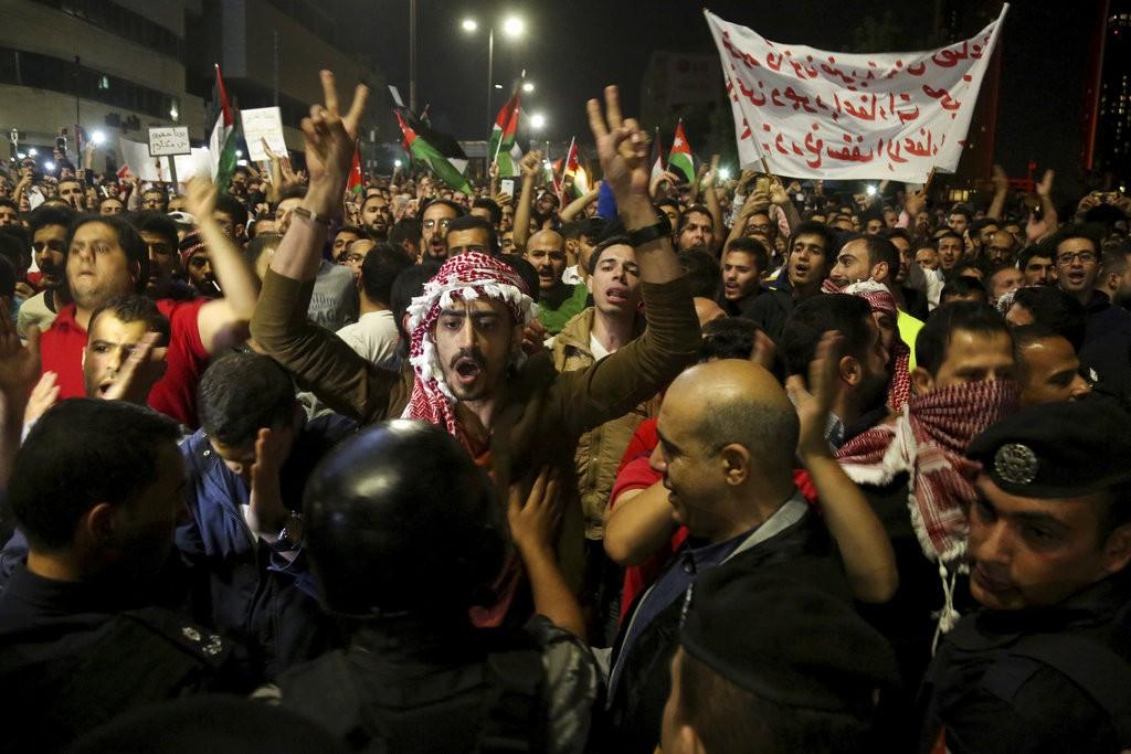 約旦抗議撙節政策民衆(美聯社)
