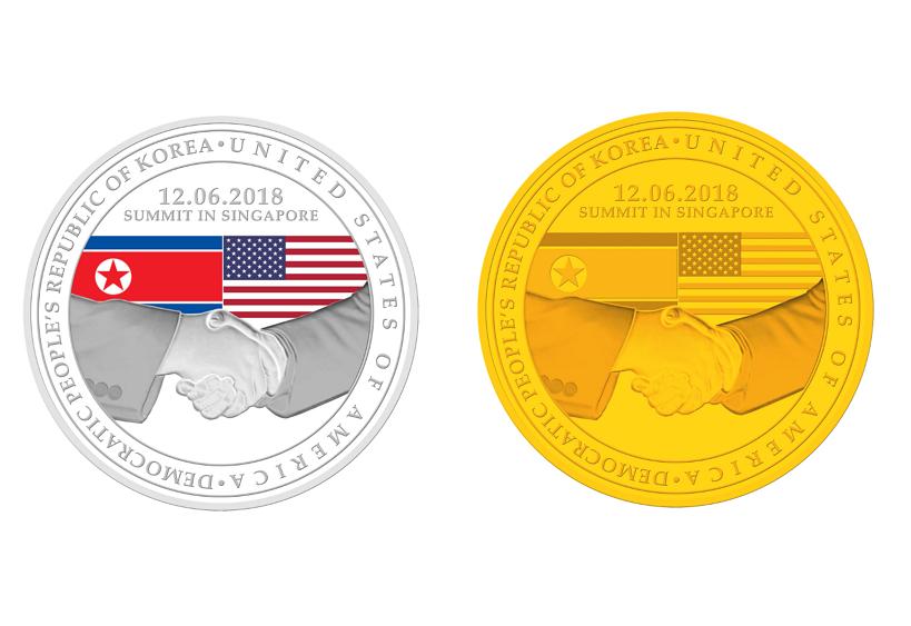 新加坡造幣廠推出川金會主題紀念幣(圖片/新加坡鑄幣廠官網)