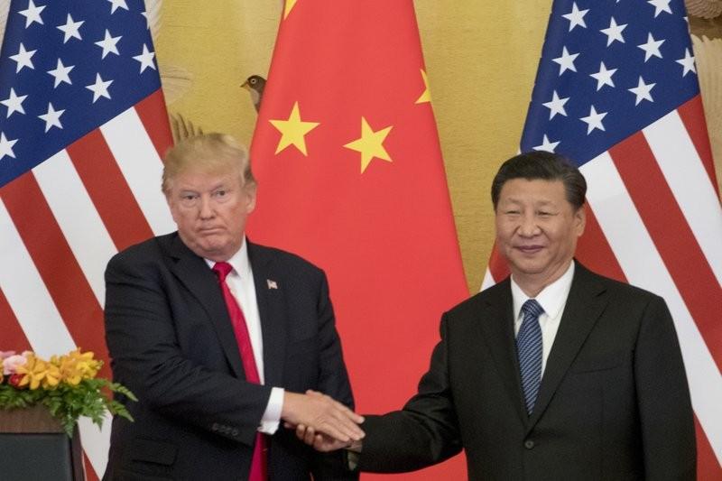 美國總統川普與中國主席習近平(美聯社)