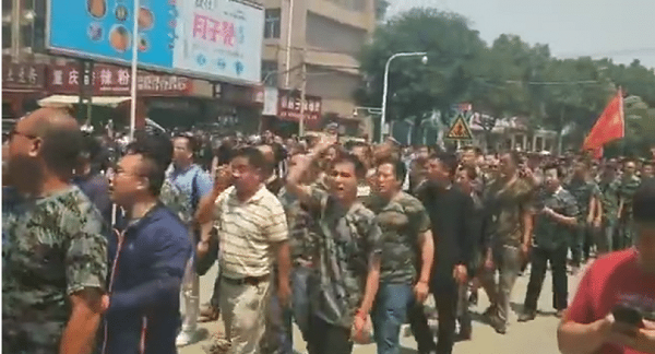 Image taken from the protests on June 3 (Image from Epoch Pioneer)