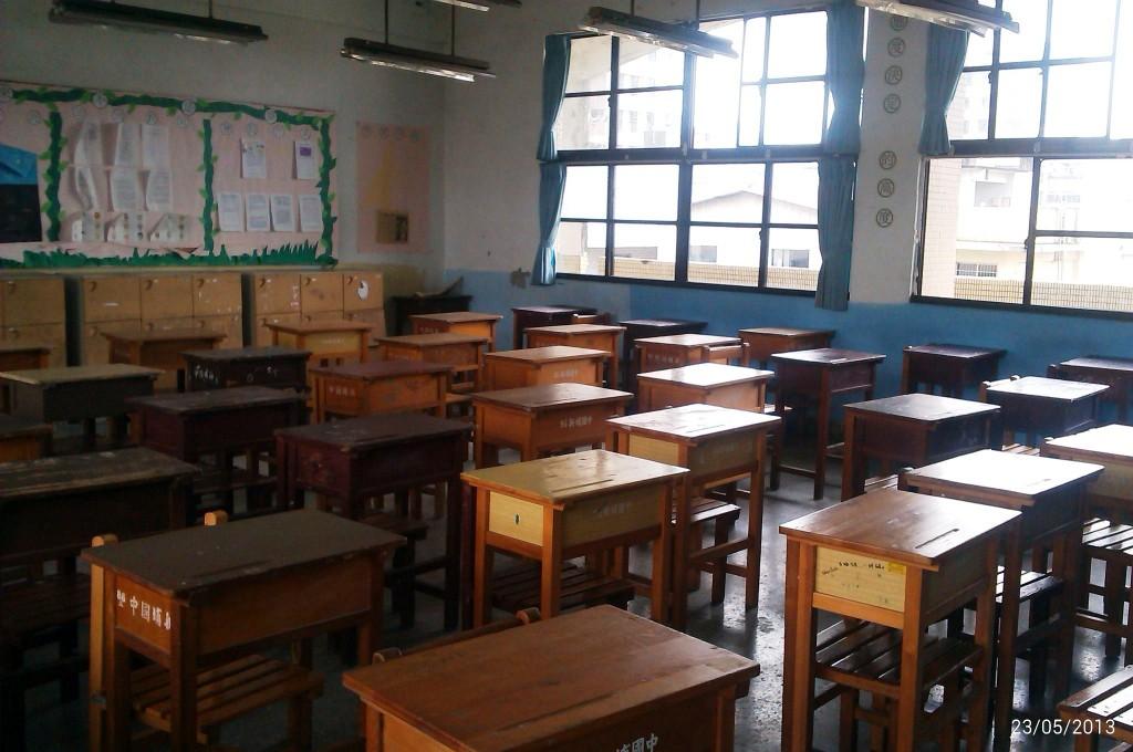 圖為新北市一國中教室