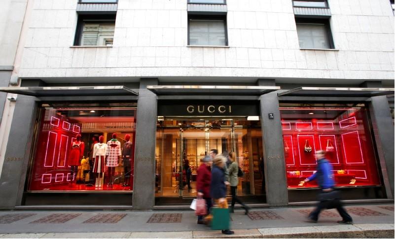 圖為義大利名牌GUCCI精品店。美聯社