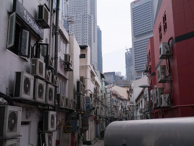 Air conditioner alley (Flickr user: Schezar)