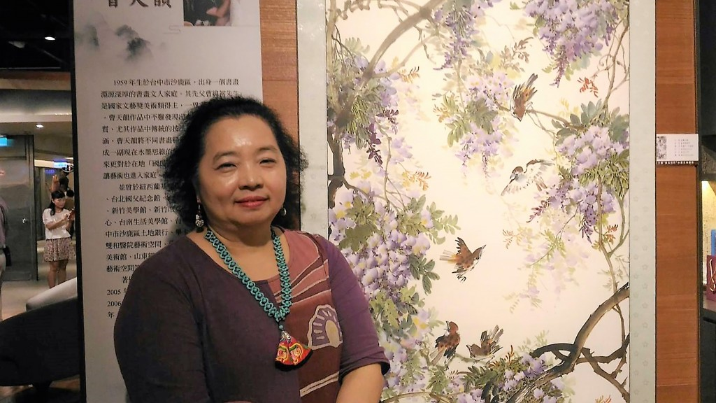 Tsao Tien-yun at her exhibition in Kaohsiung