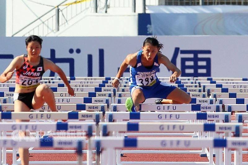 Lin Hsiao-hui breaks the U20 national record.