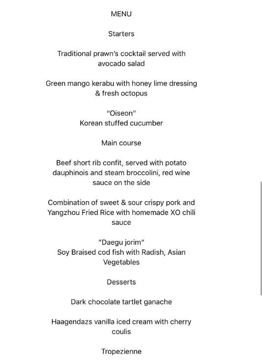 《川金會》雙邊會議結束 午宴菜單公佈