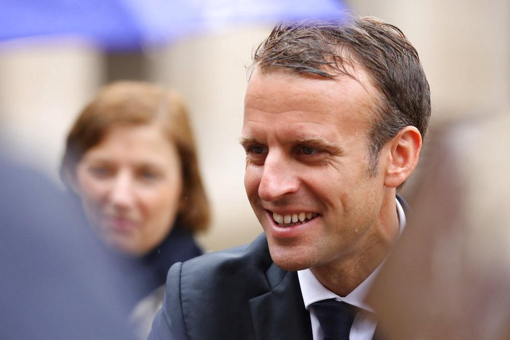 法國總統馬克宏。(美聯社)