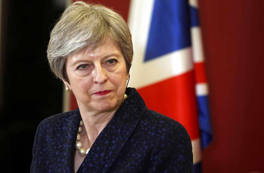 英國首相梅伊。 (美聯社)