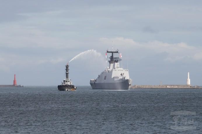 2018年海軍敦睦遠航訓練支隊14日返抵國門(照片來源:軍聞社提供)