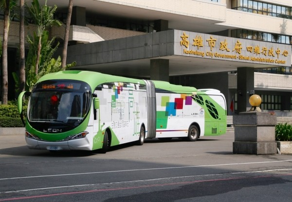 An electric bus in Kaohsiung.