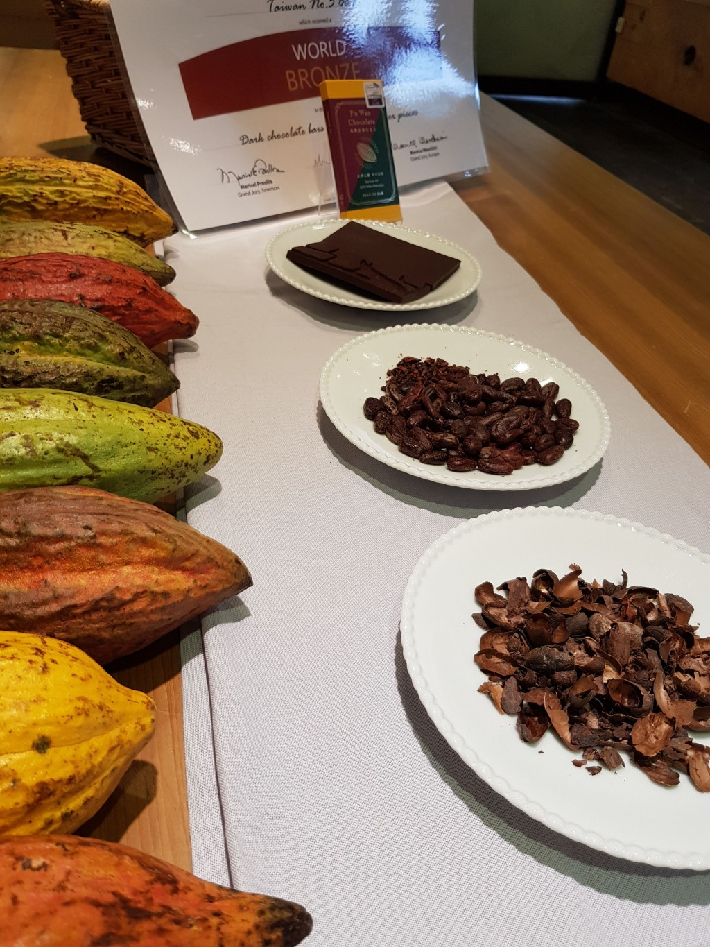 Tasting ceremony during the International Chocolate Awards