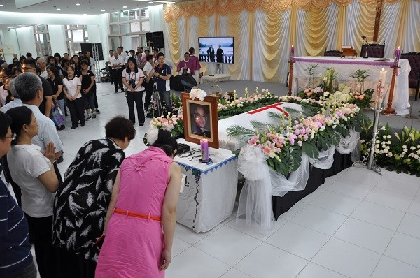 A funeral mass is held in Taiwan Sunday in tribute to Father Antonio Didone on June 17