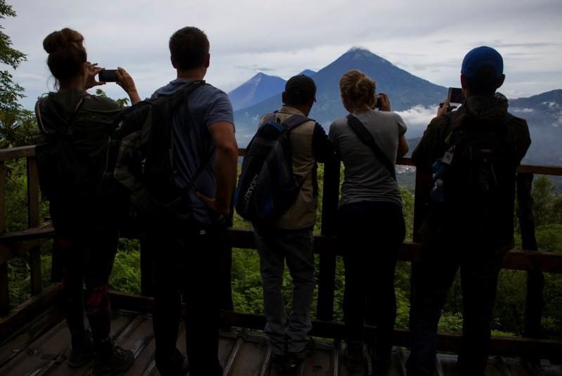 火山是瓜地馬拉觀光收入來源之一。美聯社