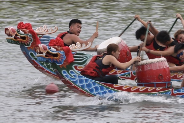 Dragon boat race in Taipei.