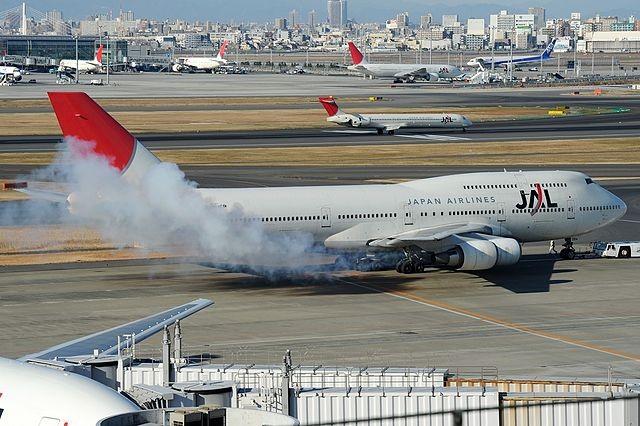 Japan Airlines Boeing 747-446D in Tokyo, 2011
