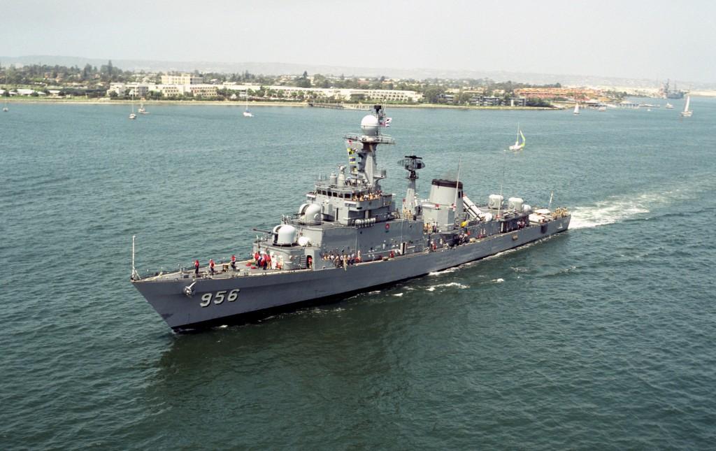 南韓軍艦示意圖,非當事船隻(翻攝自維基百科)