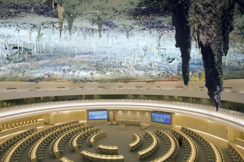 聯合國人權會議廳(圖/美聯社)