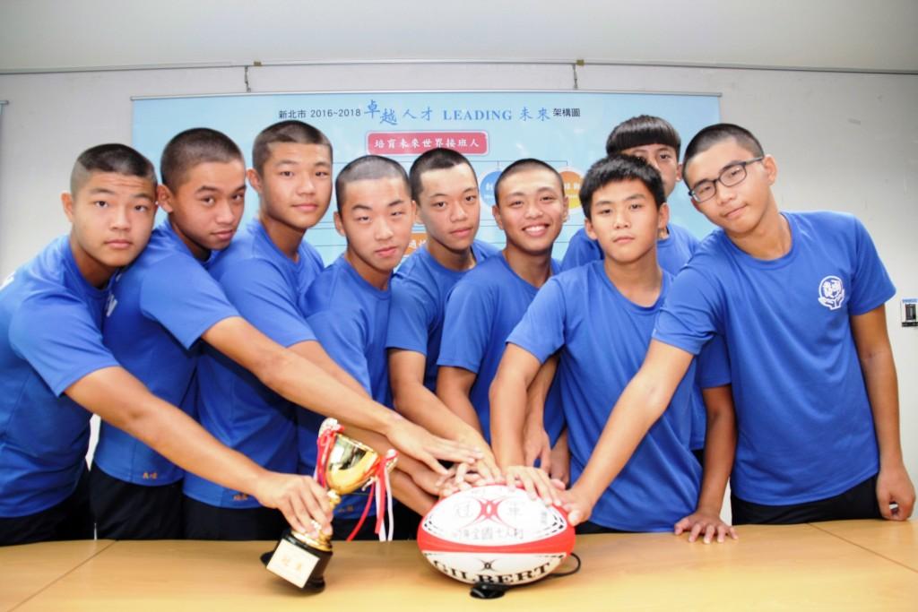 明志國中勇奪全國七人制冠軍。(照片由新北市政府提供)