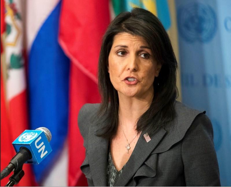 美國駐聯合國大使海莉 (美聯社檔案照片)