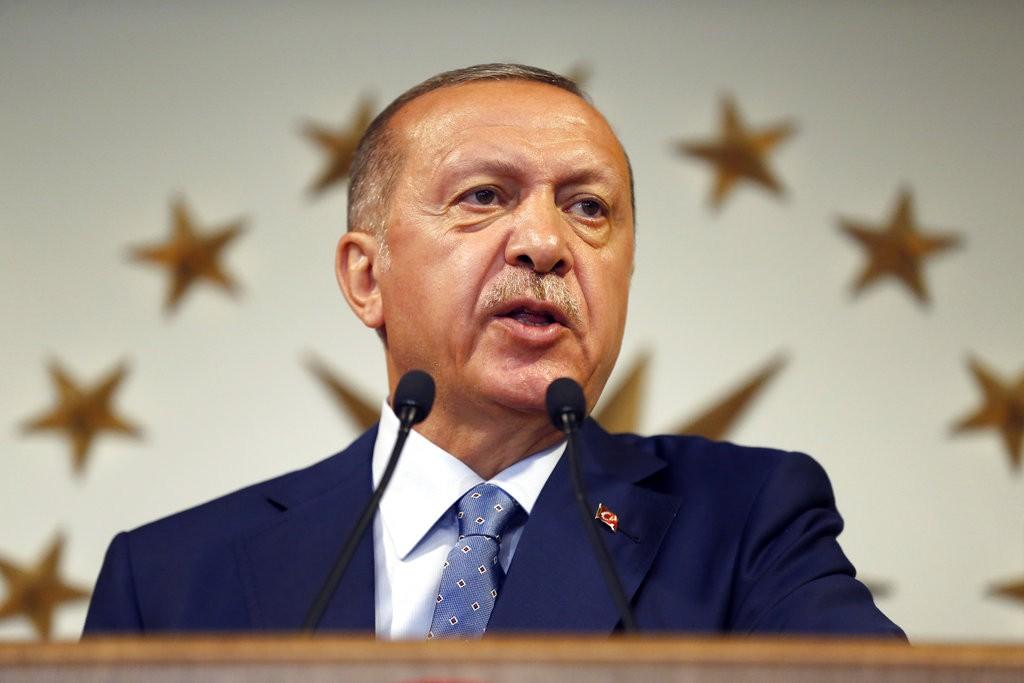 土耳其現任總統艾爾多安(Recep Tayyip Erdoğan)宣佈成功連任(美聯社)