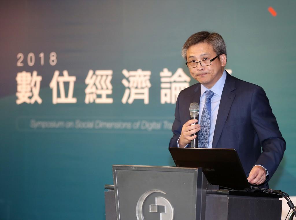 美國在台協會處長梅健華25日在台北出席2018數位經濟論壇