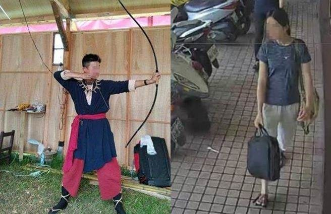Chen (left), Kao (right). (Facebook image and surveillance camera footage)