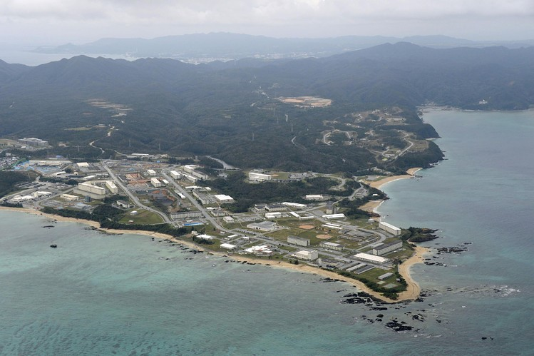 Henoko, Nago on Okinawa Island, where a new US airbase will be built after a land reclamation project is completed