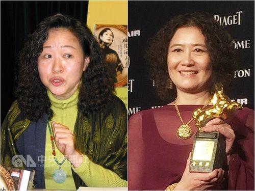 Screenwriter Wang Hui-ling (left) and art director Hwarng Wern-ying.