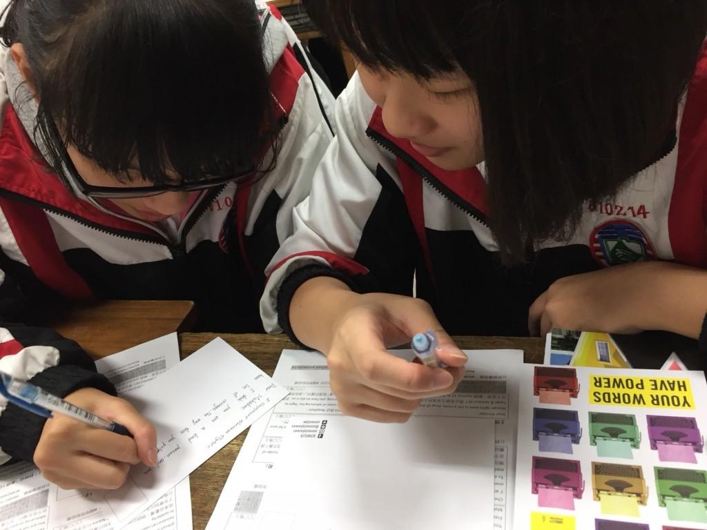 三重高中學生透過寫信馬拉松活動聲援國際人權議題(圖片來源:三重高中)