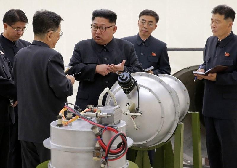 金正恩視察核武設施(美聯社)