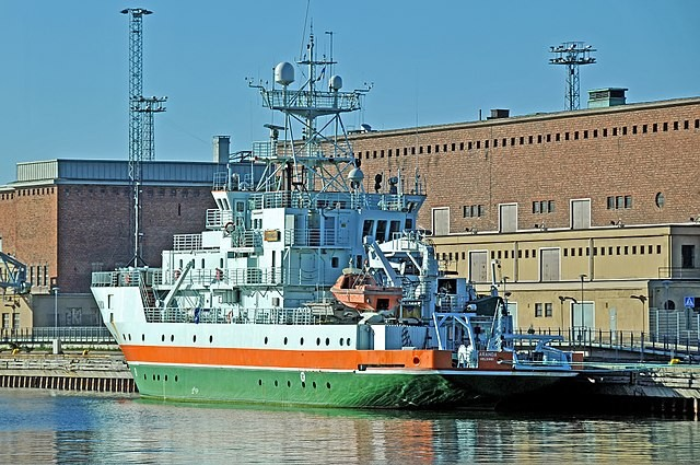 Research ship in Finland