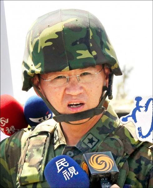 六軍團副指揮官羅德民將接任軍情局長。(中央社)