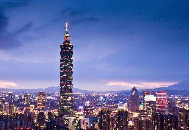 全球城市財富排名,台北市位居43。(圖片來源:Wikimedia)
