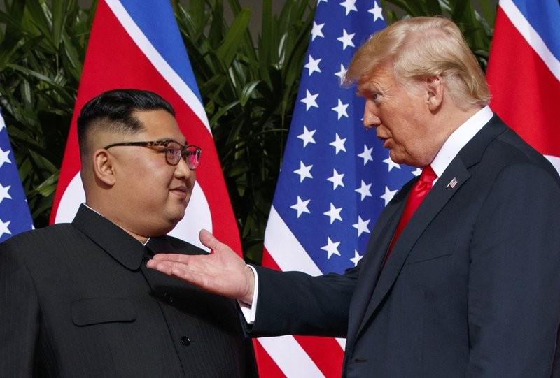 美國總統川普與北韓領導人金正恩(美聯社)